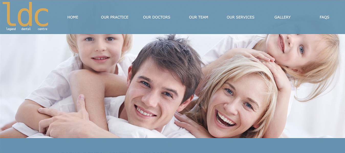 Legend Court Dentist Website