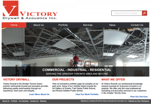 Victory Drywall Website Design